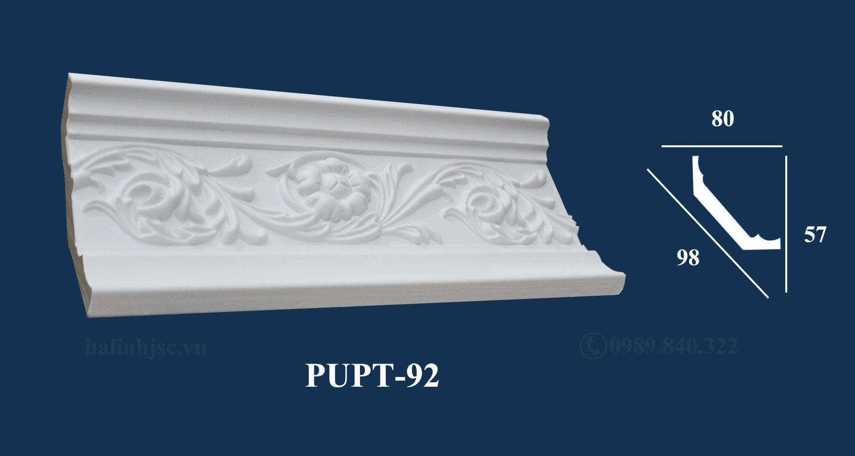 phào chỉ PU cao cấp pupt-92