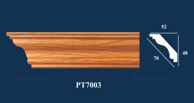 Sản phẩm PS trơn vân gỗ 03 - Phào trần PT7003